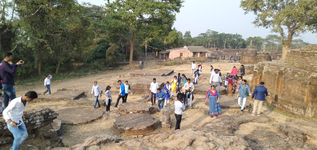 11. Heritage Cleaning by the studnets and faculties at Buddhist Site Ratnagiri