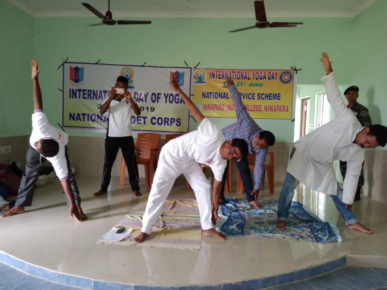 International Day of Yoga by Yoga Guru Gauranga Sahoo Practising