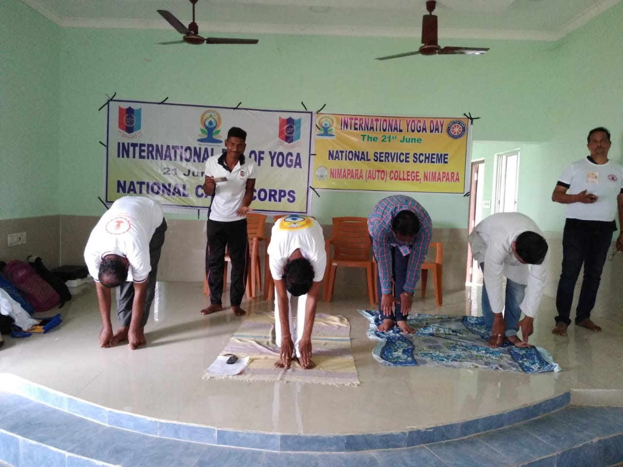 International Day of Yoga by Yoga Guru Gauranga Sahoo along with Staff