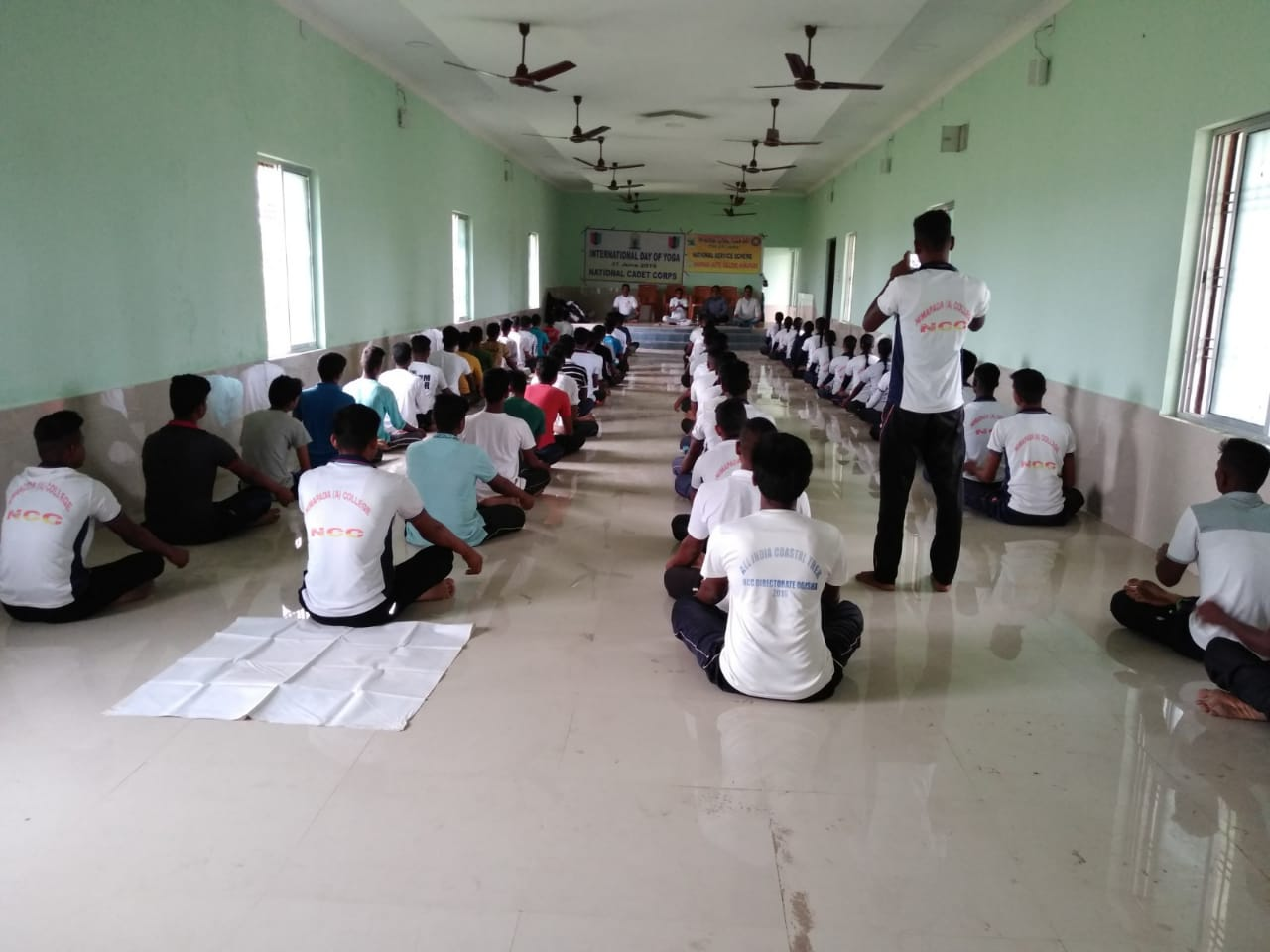 International Day of Yoga by Yoga Guru Gauranga Sahoo with Students
